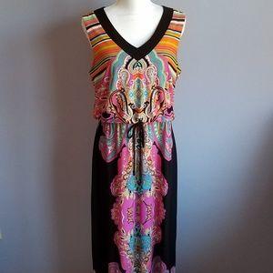 Emma & Michele Paisley Blouson Maxi Dress